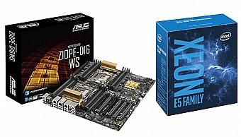באנדל מעבד Intel® Xeon® Processor E5-2650 v4 ולוח אם ASUS Z10PE-D16-WS  Supreme Graphic Power with IPMI 2 0 - ₪6,200