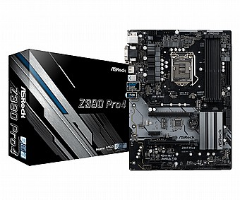 לוח אם חברת ASROCK דגם Z390-Pro4 Dual M 2 DVI/VGA/HDMI - ₪596